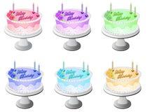 Alles- Gute zum Geburtstagkuchen stock abbildung