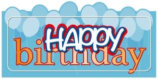 Alles- Gute zum Geburtstagpostkarte mit Ballonen Lizenzfreie Stockbilder