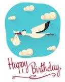 Alles- Gute zum Geburtstagpostkartenkonzept Lizenzfreies Stockfoto