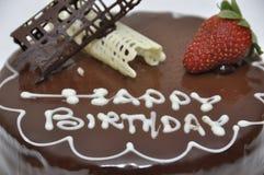 Alles Gute zum Geburtstagschokoladenkuchen stockfotografie