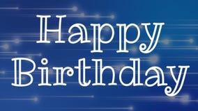 Alles Gute zum Geburtstagtext lizenzfreie abbildung