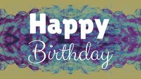 Alles- Gute zum Geburtstagtext mit blauer Explosion stock abbildung