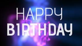 Alles- Gute zum Geburtstagtext mit Neonlinien lizenzfreie abbildung