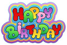 Alles Gute zum Geburtstagthema 1 stock abbildung