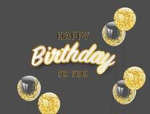 Alles- Gute zum Geburtstagvektor Feierpartei Lizenzfreies Stockfoto