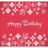 Alles- Gute zum Geburtstagvektor-Grußkarte Lizenzfreie Stockbilder