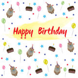 Alles- Gute zum Geburtstagvektor-Illustration Stockbild