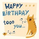 Alles Gute zum Geburtstagvektorkarte Lizenzfreies Stockfoto