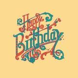 Alles- Gute zum Geburtstagweinlesebeschriftung Stockfotografie