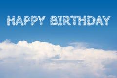 Alles- Gute zum Geburtstagwolke Stockfotografie
