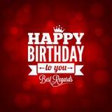alles- Gute zum Geburtstagzeichendesignhintergrund Stockfotografie