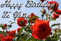 Alles- Gute zum Geburtstagzitatplakat Stockfoto