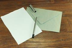 Alles is klaar voor de brief Royalty-vrije Stock Foto's