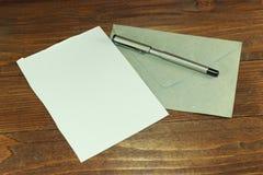 Alles is klaar voor de brief Stock Fotografie