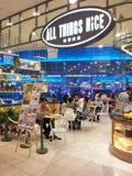 Alles Nizza Nachtischcafé der Sachen Lizenzfreie Stockfotos