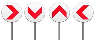 Alles Richtungspfeil-Verkehrsschild getrennt Lizenzfreie Stockbilder