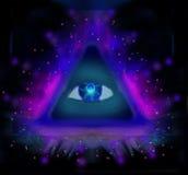 Alles sehende Auge Lizenzfreies Stockbild