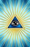 Alles sehende Auge - Auge der Vorsehung Lizenzfreie Stockfotografie
