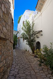 Alleway in Marmaris, Turkey Royalty Free Stock Photos