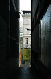 Alley. Ghent, Belgium - a dark alley Royalty Free Stock Photo