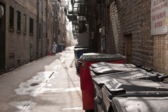 Alley. Narrow alley in a chinatown Royalty Free Stock Photo