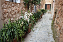 Alley. Blind alley in a old village in Majorca in Spain royalty free stock image