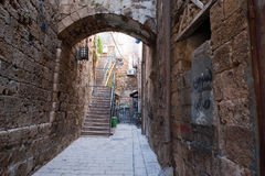 Alley in Acre Akko Royalty Free Stock Photos