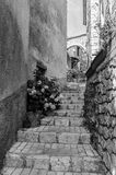 An alley in Aiguines in Provence, France Stock Images