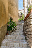 An alley in Aiguines in Provence, France Royalty Free Stock Photography