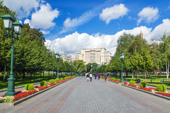 Alley Alexander Garden in Moscow, Russia Royalty Free Stock Image