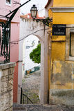 Alley Alfama Royalty Free Stock Photos