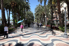 Alley in Alicante, Spain Royalty Free Stock Photography
