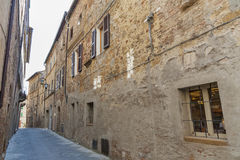 Alley. In Ancient Town Pienza, Tuscany, Italy Royalty Free Stock Images