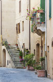 Alley. In Ancient Town Pienza, Tuscany, Italy Stock Image