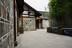 Alley between ancient Chinese dwelling houses Stock Images