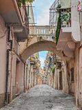 Alley in the ancient town Ortona, Abruzzo, Italy Stock Photo
