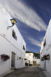 Alley of Andalusian village Stock Images