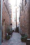 Alley, Architecture, Brick, Walls Stock Photo