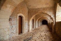 Alley at Arkadi Monastery in Crete Greece Stock Photo
