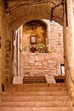 Alley of Assisi stock image