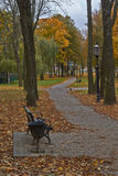 Alley in autumn park. Stock Image