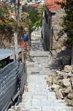 Alley below Acropolis Royalty Free Stock Photography