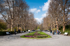 Alley in Berlin Zoological Garden Royalty Free Stock Photos