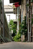 The alley. In the alley at Big city Bangkok Thailand Stock Photos