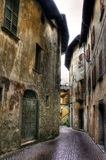 Alley between buildings. Narrow alley with old buildings Stock Image
