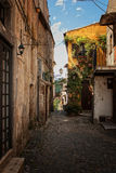 Alley in calcata. Walking in an alley in calcata Royalty Free Stock Photography