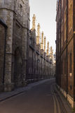 Alley in Cambridge Royalty Free Stock Photos
