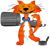 Alley Cat Graphic stock photo
