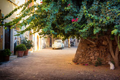 Alley in Chania old Town, Crete, Greece Royalty Free Stock Photo