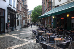 Alley in city center  in Antwerp Stock Images